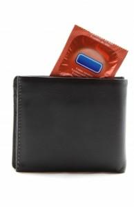 wallet with a condom
