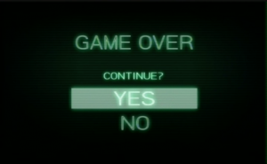 GAME OVER. Continue?